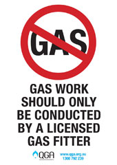 gas fitting should only be done by a licensed Gas Fitter